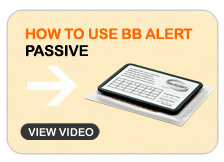 How to use BB ALERT Passive
